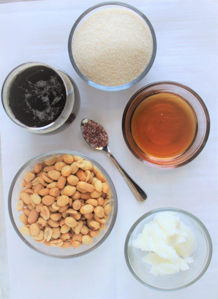 Beer Peanut Brittle Ingredients