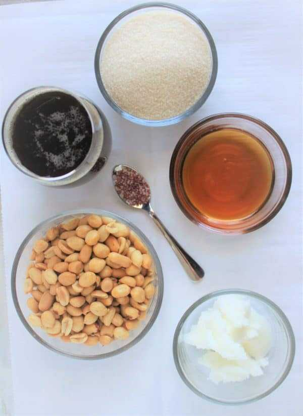 Beer Peanut Brittle Ingredients
