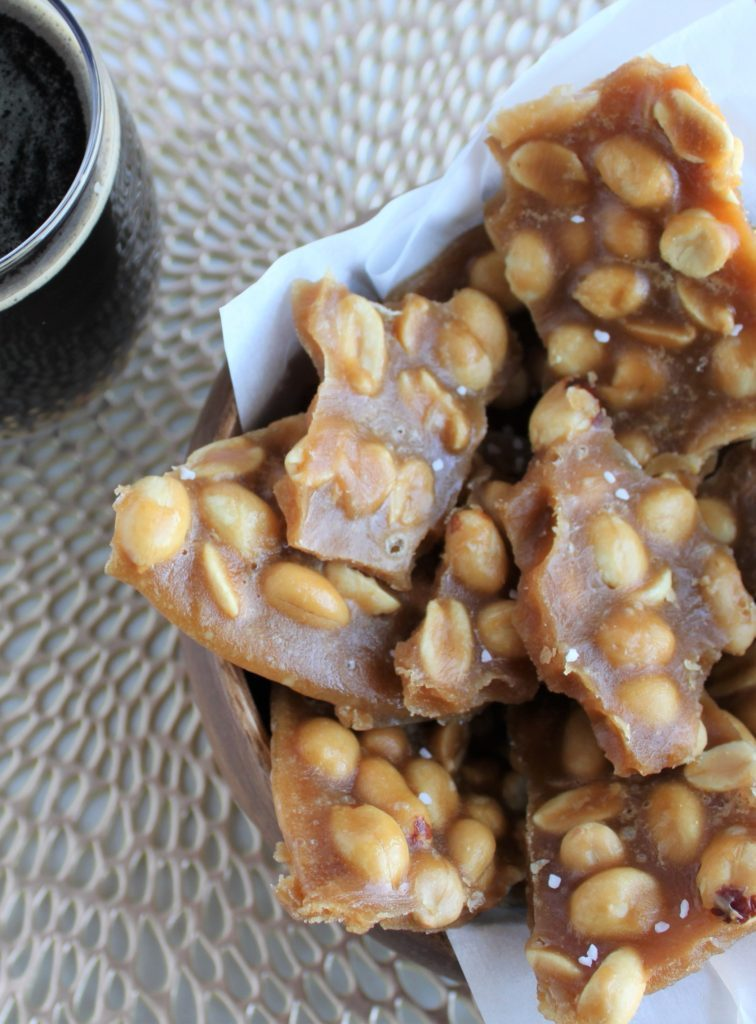 Beer Peanut Brittle (Soft candy with Brown)