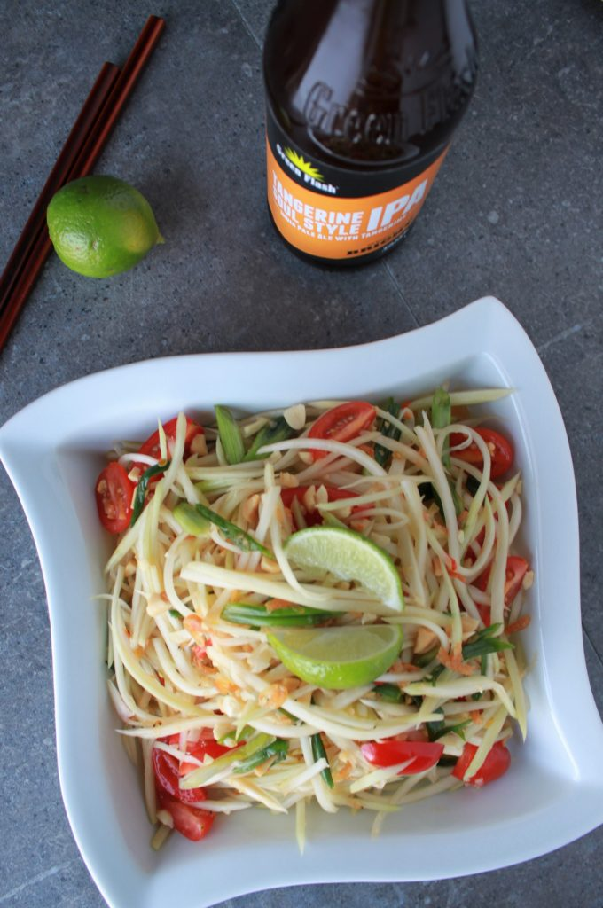 pair Green Papaya Salad with Citrusy Tangerine IPA