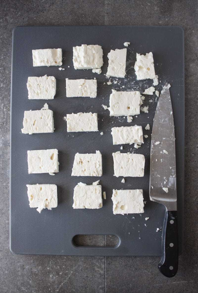How to Slice Feta Cheese Bites