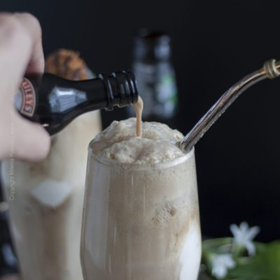 Irish Stout Ice Cream Float with Bailey's