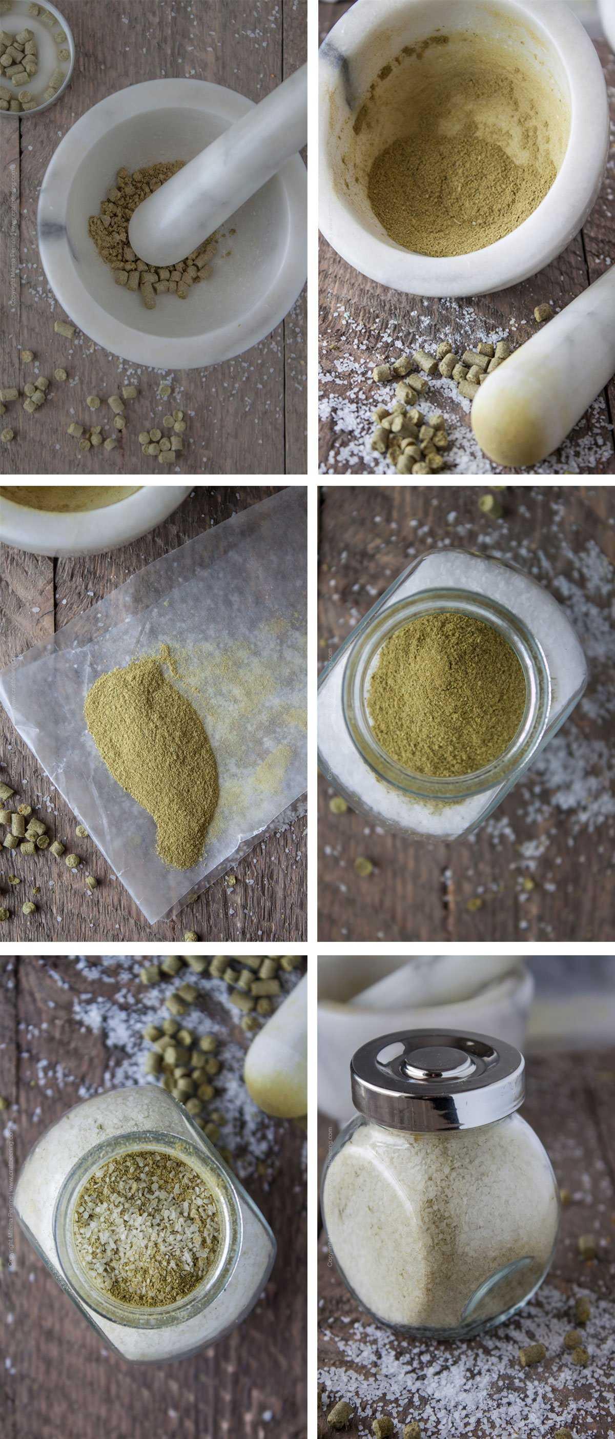 Hop Salt - Steps to Making Your Own Using Hop Pellets