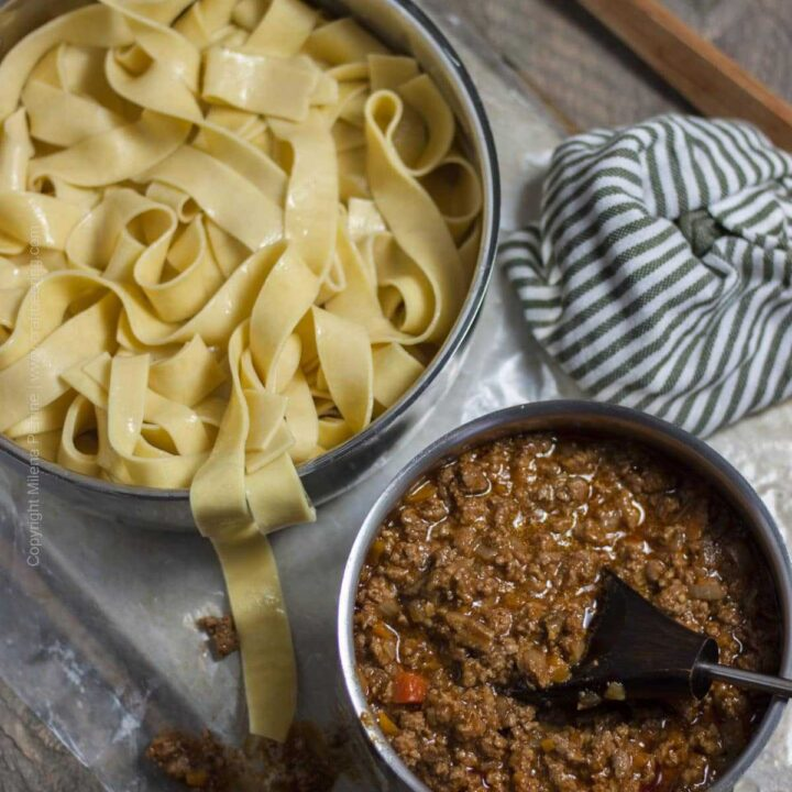 Ale Lamb Bolognese with Parapdelle