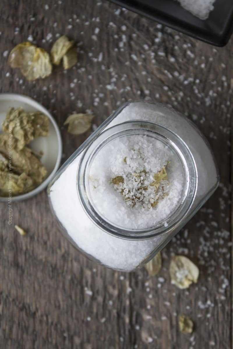 Hops Salt Jar Whole Hop Flower 2
