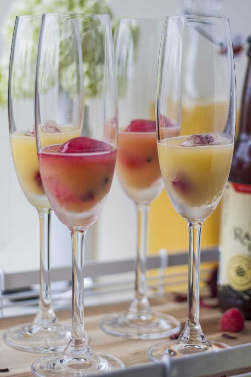 Beermosa Ice Cubes and just a splash of OJ