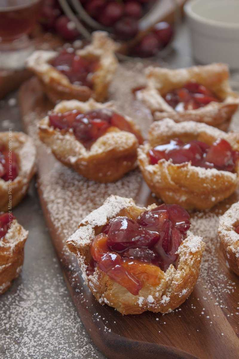 Cherry Bourbon Beer French Toast Cups
