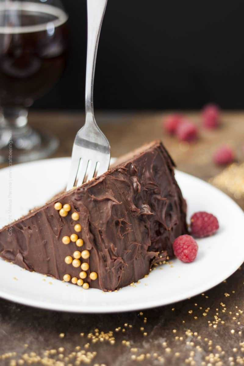 Chocolate Beer Cake with Raspberry Brown Ale