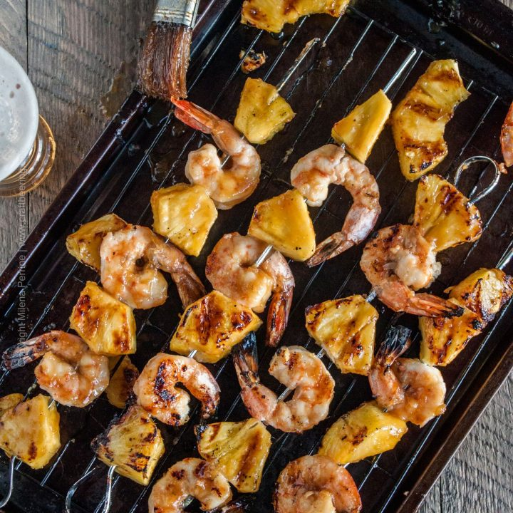 IPA Teriyaki Shrimp & Pineapple Skewers