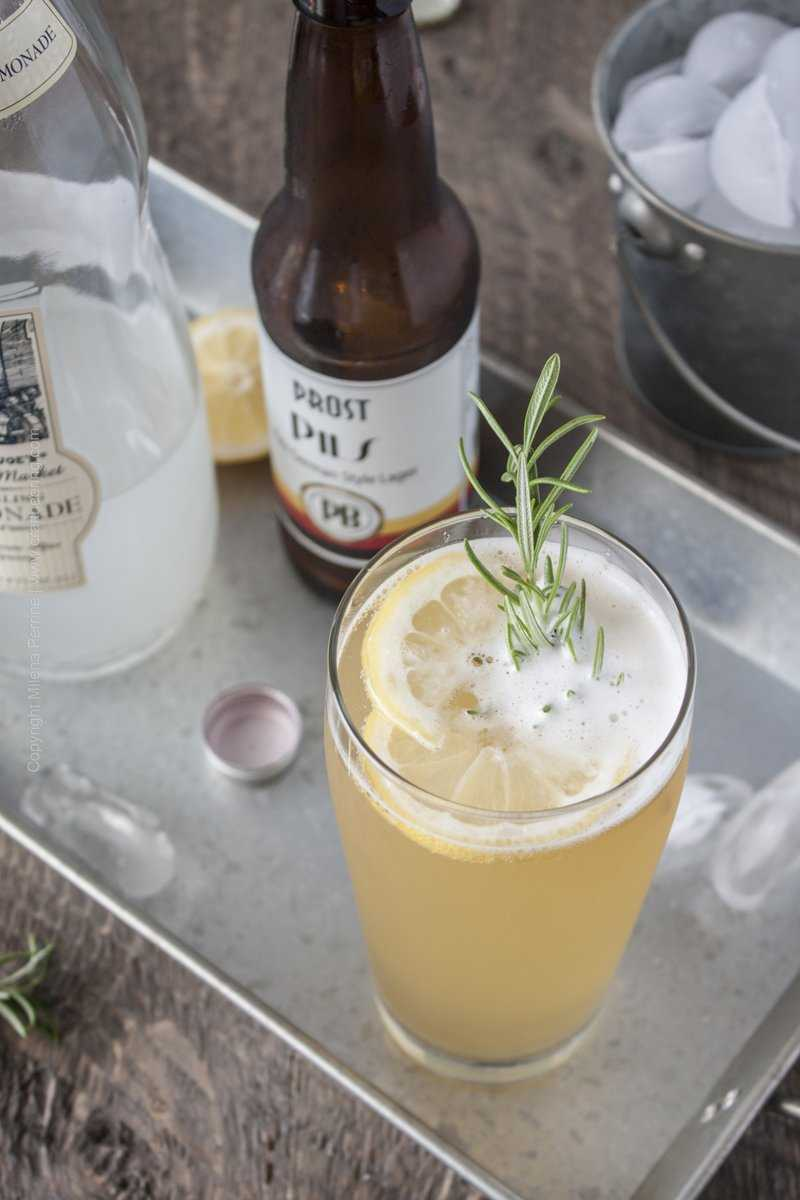 Radler beer cocktail