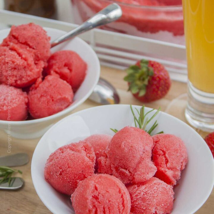 Summer Blonde Ale Strawberry Sorbet. Pure summer's delight for craft beer lovers. Pairs with passion.