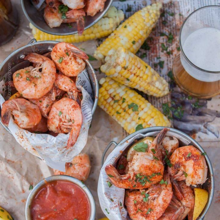 Beer Boiled Peel n Eat Shrimp. Gives you something to do while sipping on that ice cold beer.