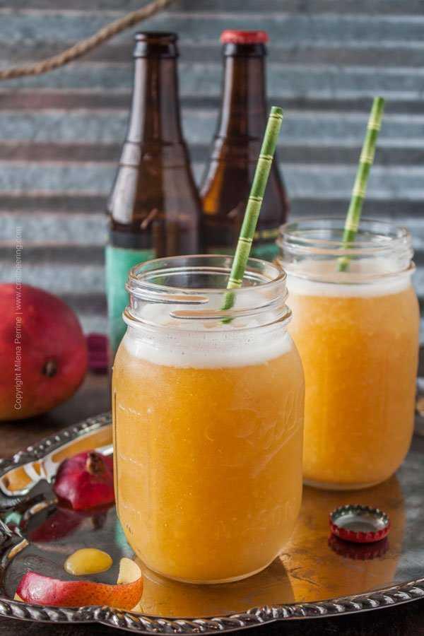 IPA Mango Slushie. Refreshing and fragrant