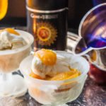 A Song of Ice and Fire - Golden Ale Poached Plums & Lemon Sorbet Flambe. Pairs with Game of Thrones episodes.