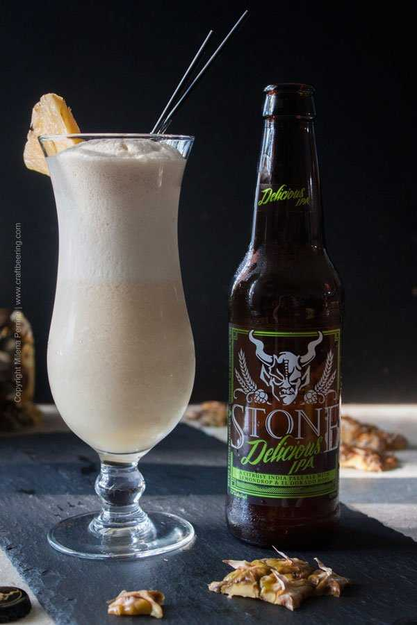 IPA Pina Colada with Stone Delicious IPA