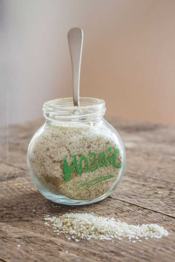 Mosaic Hop Salt to use in Hops Salted Caramel Sauce