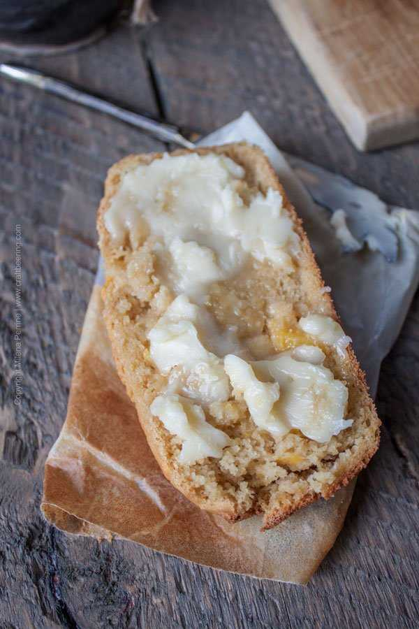 Peach ale breakfast loaf with honey butter. Literally a slice of heaven.