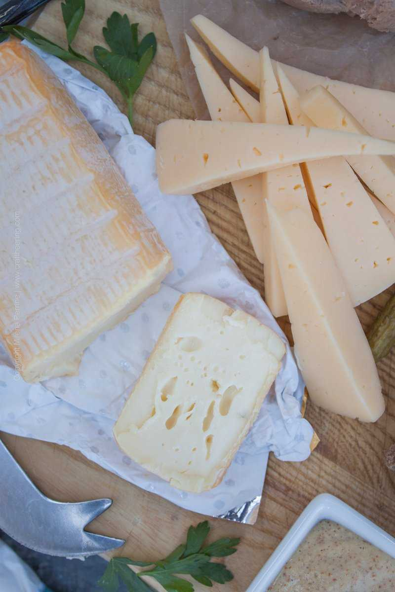 German Meat and Cheese Board - Butterkase and Limburger cheese are two popular German varieties that pair well with Pilsners and other German lagers.