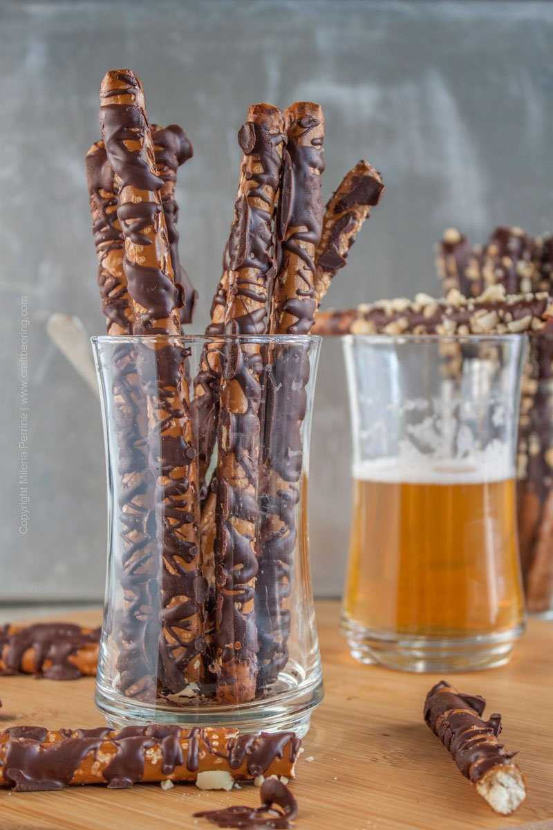 Hops Salted Chocolate Covered Pretzels.