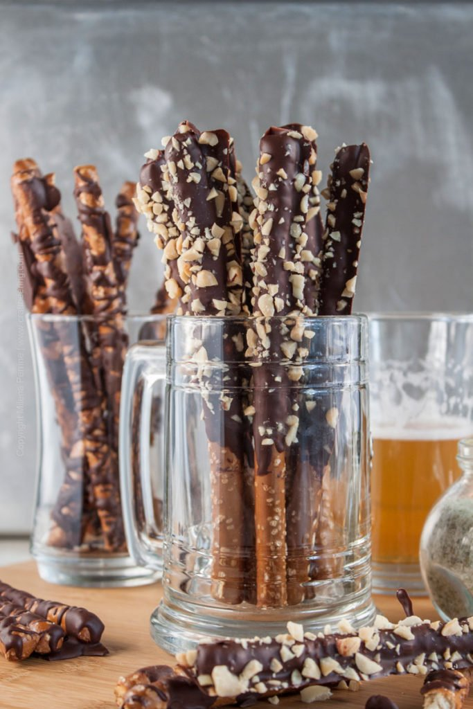Hops Salted Chocolate Covered Pretzels