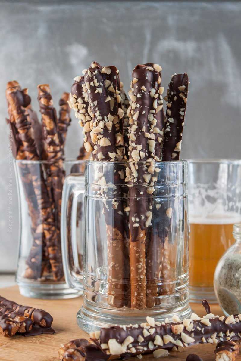 Hops Salted Chocolate Covered Pretzels. Beer snack!
