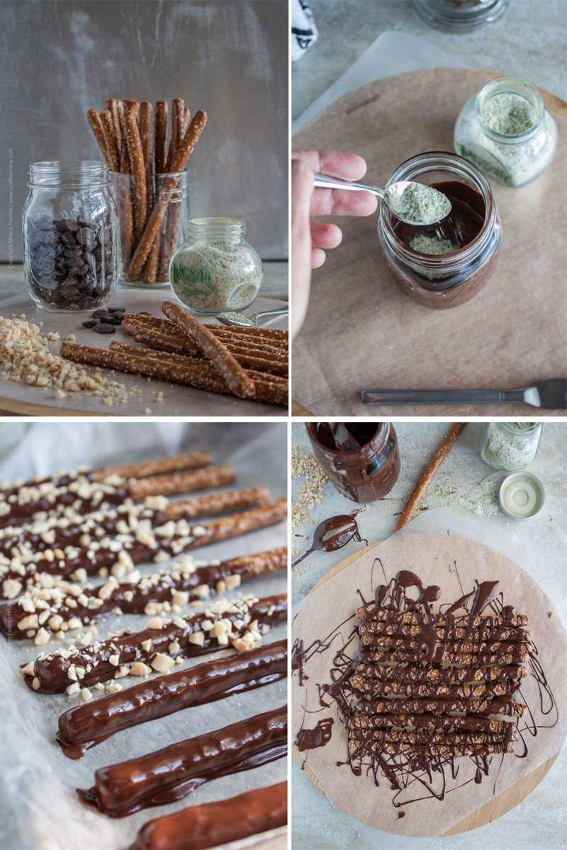 Hops Salted Chocolate Covered Pretzels. Steps to making.