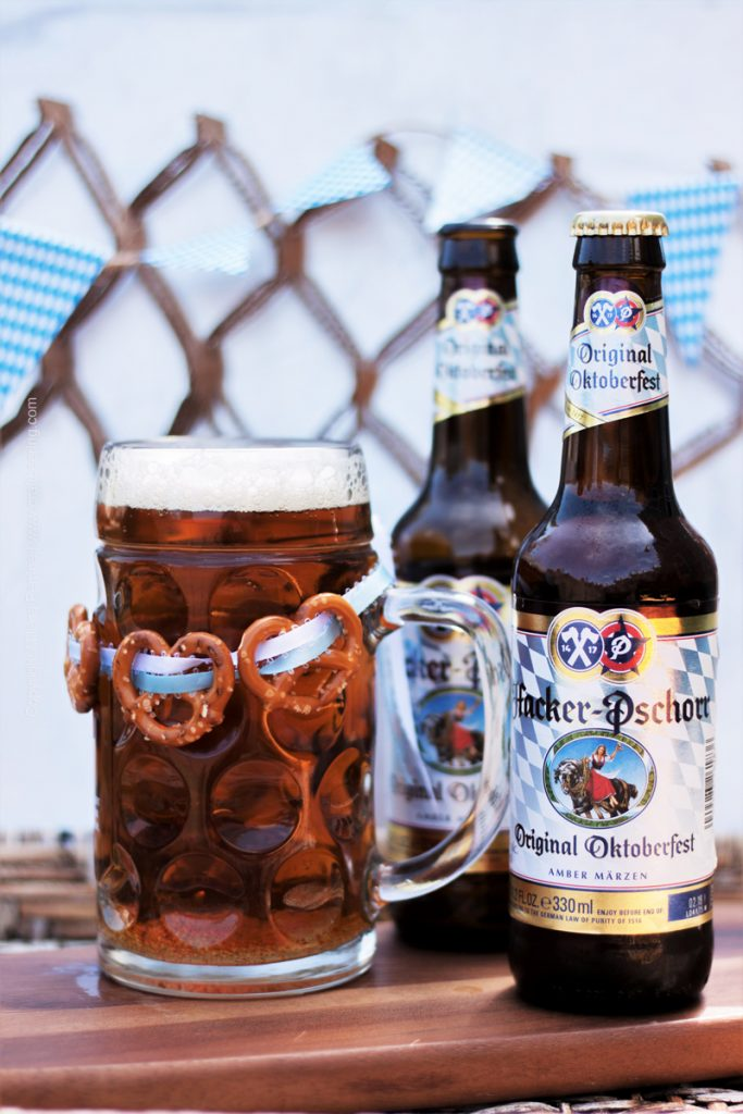 Hacker Pschorr Marzen beer which used to be the official Oktoberfest beer