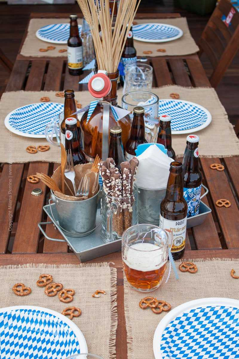 Oktoberfest party tablescape. Get ready for #oktoberfestbash #oktoberfestdecoration #oktoberfestparty