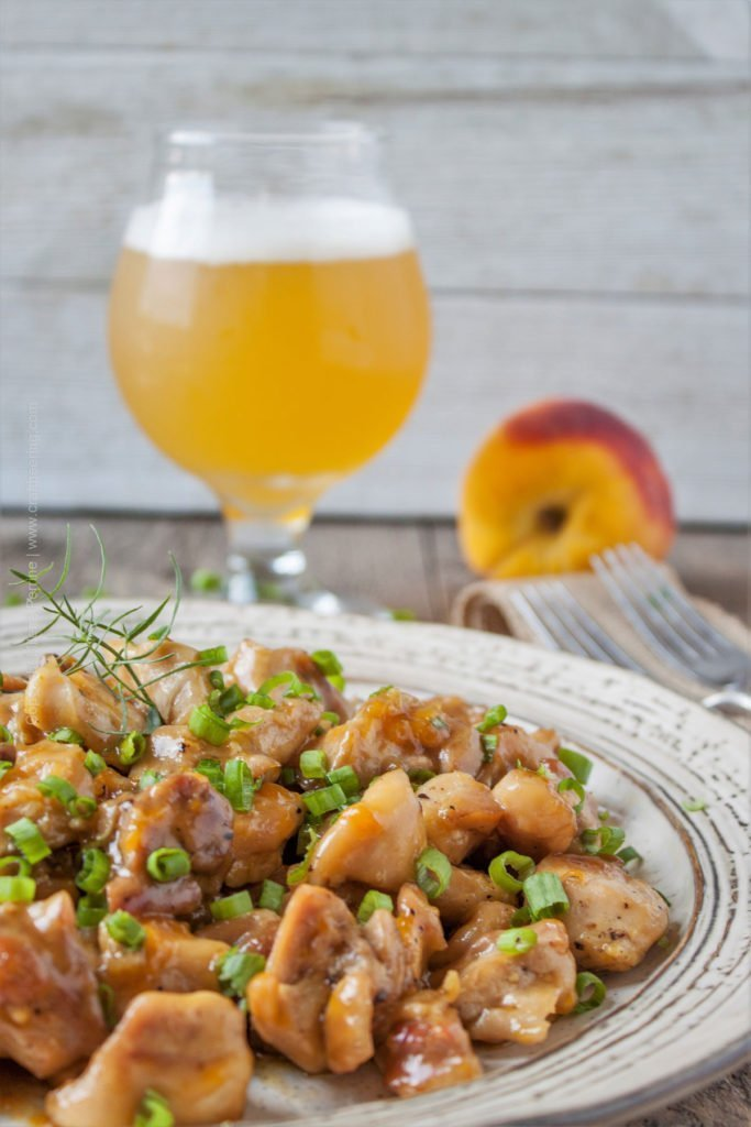Peach Ale Sticky Chicken