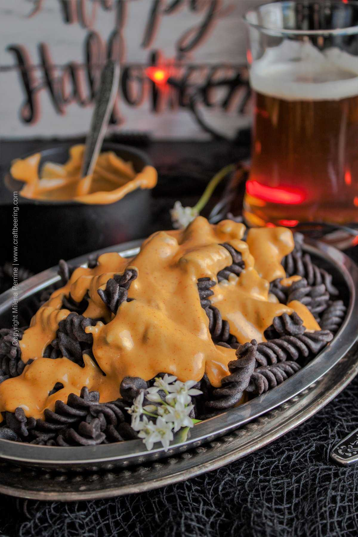 Halloween Pumpkin Ale Mac and Cheese. The colors!!!!