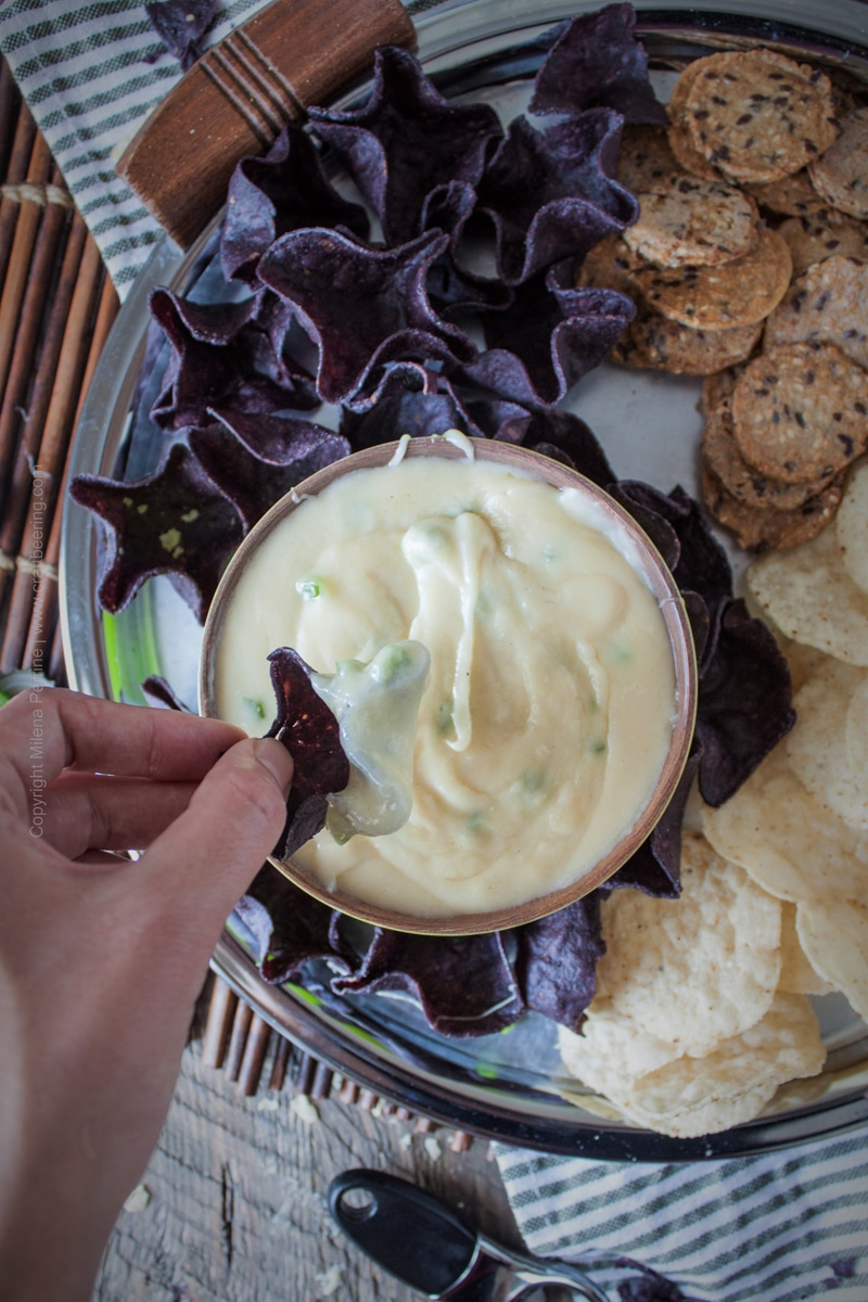 Fontina Beer Cheese Dip with Jalapeno and Honey Brewed Blonde Ale