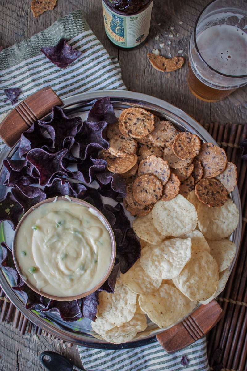 Fontina Beer Cheese Dip with jalapeno and blonde ale