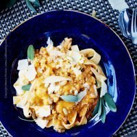 Pumpkin Ale Meat Sauce with Sage Roasted Butternut Squash