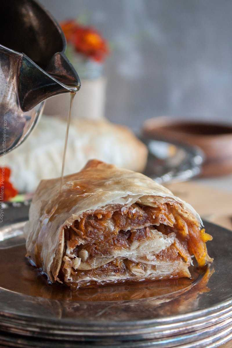 Pumpkin Strudel with Pumpkin Ale syrup