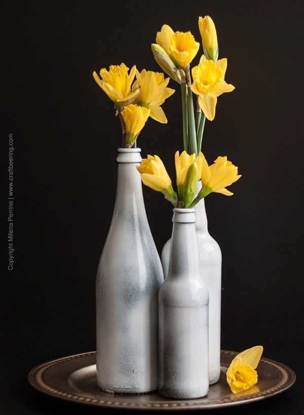 Beer Bottle Vase Centerpiece, a unique gift idea for beer lovers