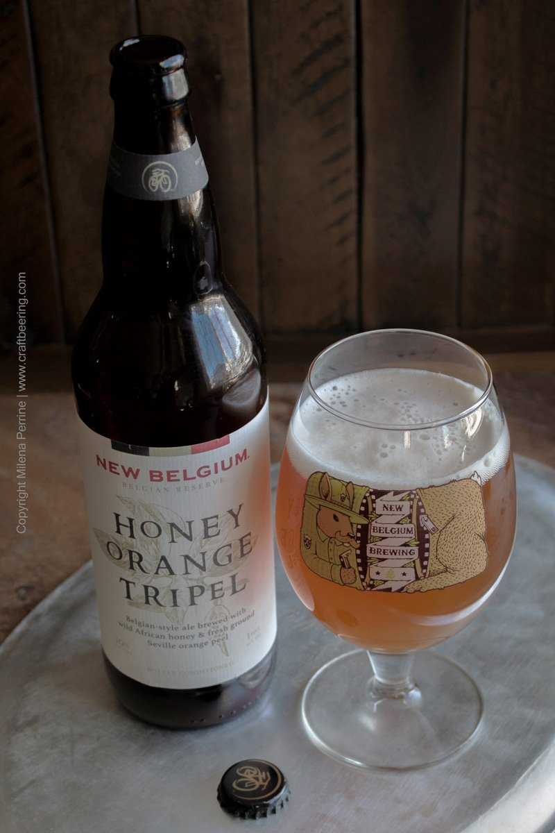 Belgian tripel with honey and orange peel for beer butter roasted cranberries