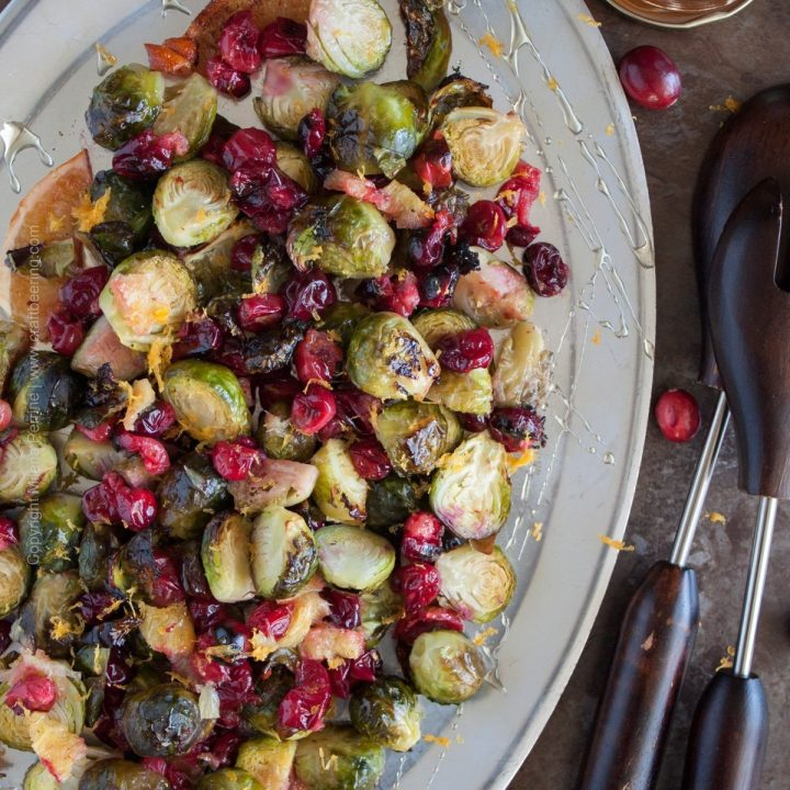 Belgian Tripel Butter Roasted Cranberries & Brussels Sprouts