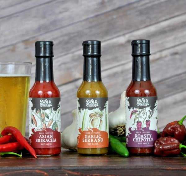 Beer infused hot sauce
