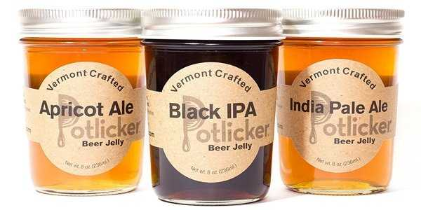 Beer jelly, set of 3, is a unique gift for craft beer lovers