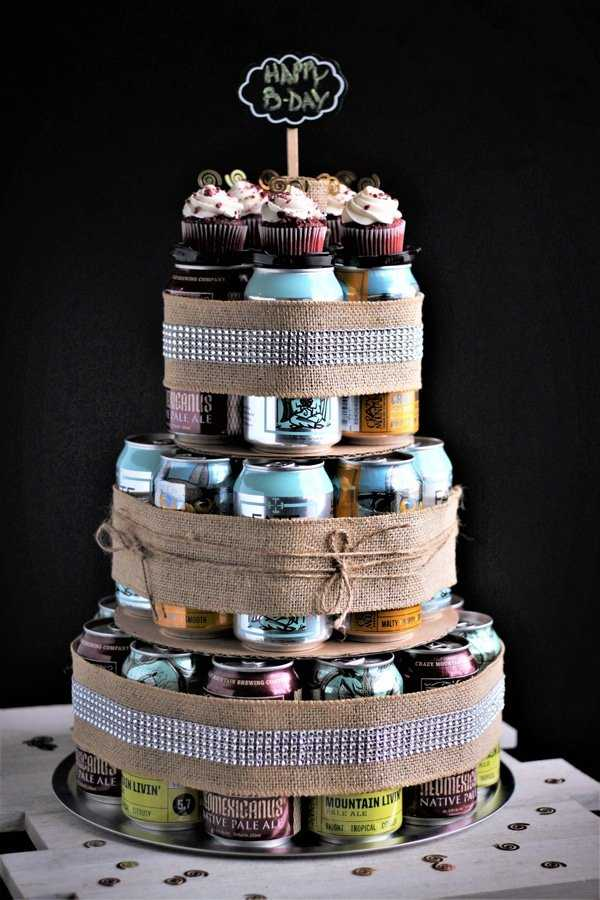 Craft Beer Can Cake