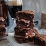 Beer brownies with stout and walnuts. #stoutbrownies #beerbrownies