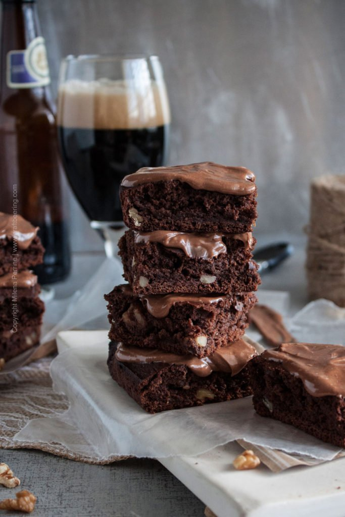Stout Brownies with Walnuts