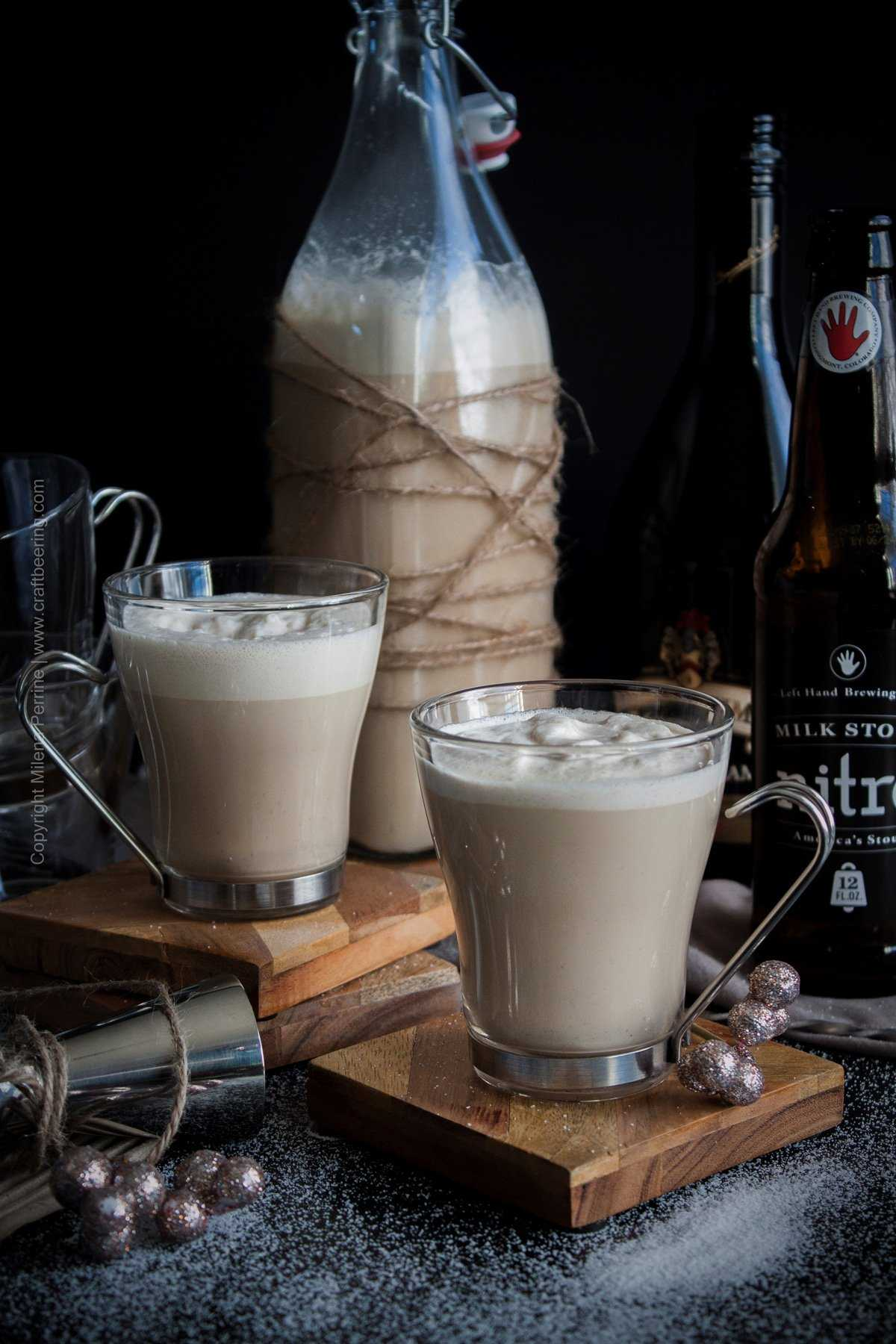 Beer nog with stout and Irish cream. The best! #beernog #beereggnog #eggnog #stouteggnog #irishcreamnog