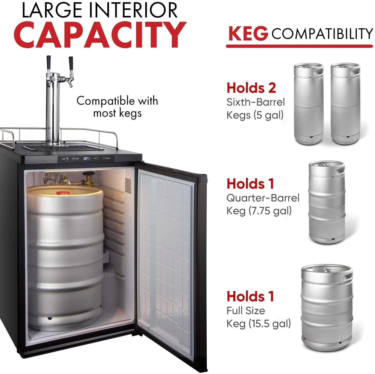 Great beer gift for your man - a dual tap kegarator!