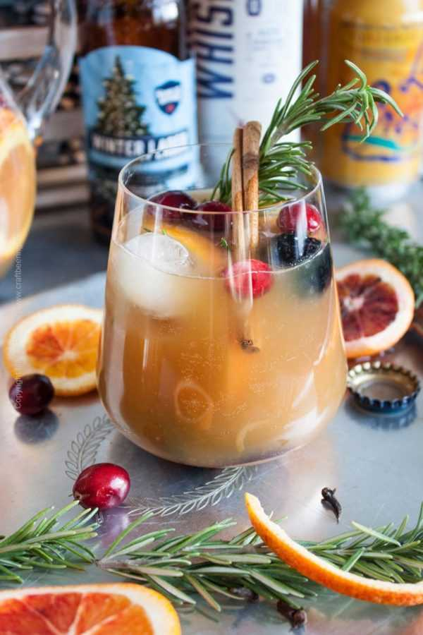 Winter Beer Sangria #beersangria #wintersangria