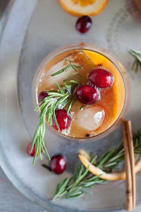 Winter beer sangria with spice bock and rye whiskey