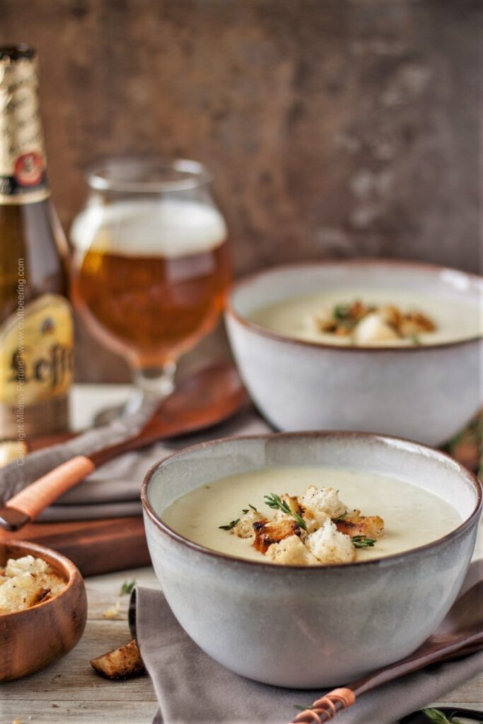 Abbey Ale Potato Leek Soup