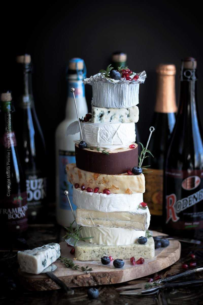 Cheesecake and Beer Pairing. Not the kind of cheesecake you'd expect, but a pretty good one in its own right:) A cake entirely made of cheese and paired with craft beer. #beerandcheese #pairbeerandcheese #cheesepairing #beercheesecake #cheesecakebeer