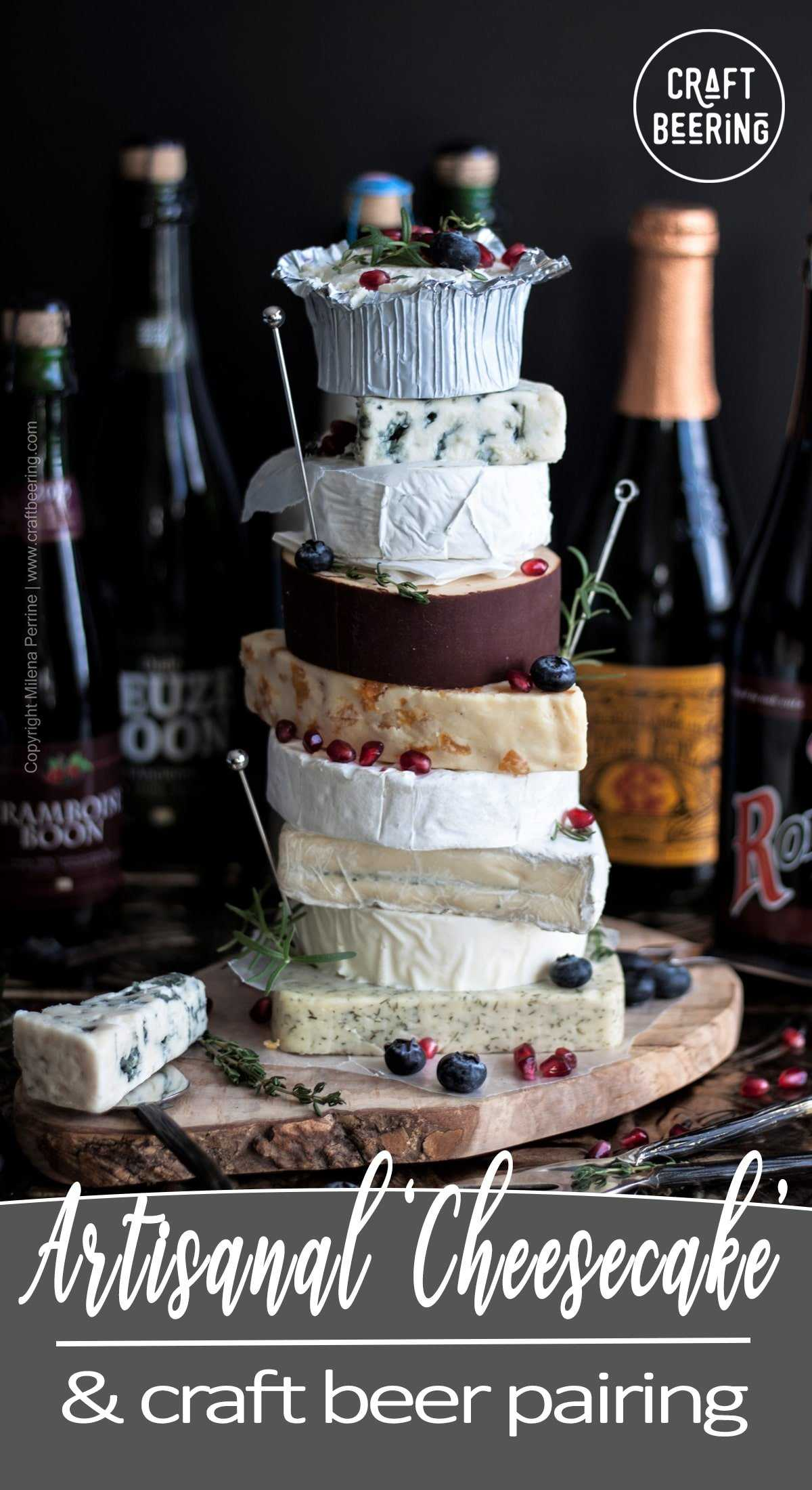 Cheesecake and Beer Pairing. Not the kind of cheesecake you'd expect, but a pretty good one in its own right:) A cake entirely made of cheese and paired with craft beer. The best kind of beer and cheese pairing. #beerandcheese #pairbeerandcheese #cheesepairing #beercheesecake #cheesecakebeer #cheesecake #craftbeer #belgianbeer #craftbeerandcheese
