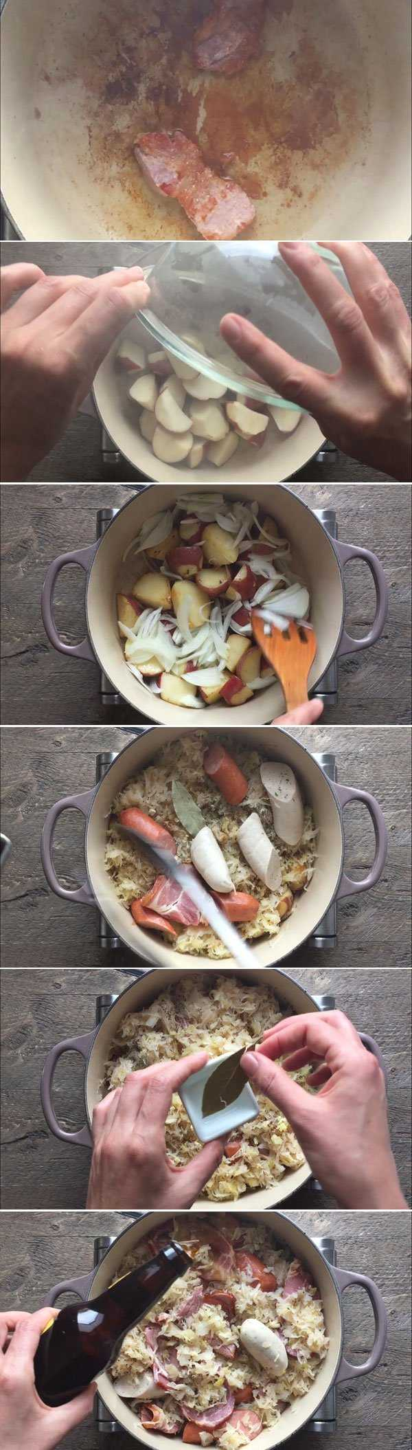 Steps to Make Choucroute Garnie Picture Collage